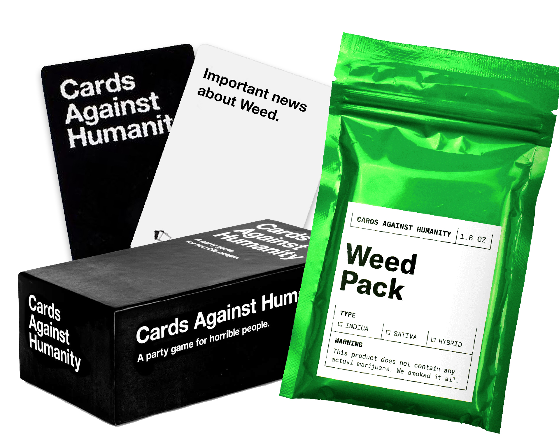 Cards Against Humanity Weed Pack The New Smoker
